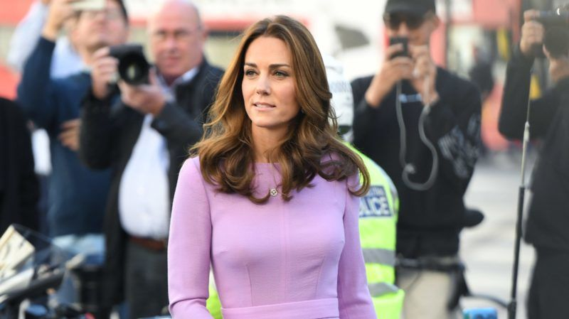 LONDON, ENGLAND - OCTOBER 09:  (EMBARGOED FOR PUBLICATION IN UK NEWSPAPERS UNTIL 24 HOURS AFTER CREATE DATE AND TIME) Catherine, Duchess of Cambridge attends the Global Ministerial Mental Health Summit at London County Hall on October 9, 2018 in London, England.  (Photo by Karwai Tang/WireImage)
