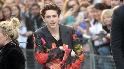 "LONDON, ENGLAND - OCTOBER 13:  Timothee Chalamet attends the UK Premiere of ""Beautiful Boy"" & Headline gala during the 62nd BFI London Film Festival on October 13, 2018 in London, England.  (Photo by Dave J Hogan/Dave J Hogan/Getty Images)"