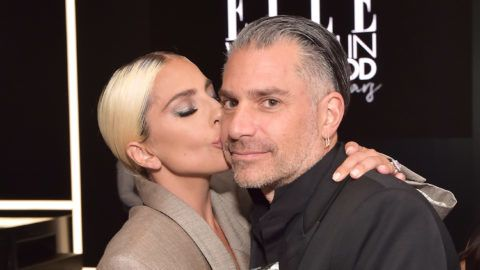 LOS ANGELES, CA - OCTOBER 15:  Lady Gaga and Christian Carino attend ELLE's 25th Annual Women In Hollywood Celebration presented by L'Oreal Paris, Hearts On Fire and CALVIN KLEIN at Four Seasons Hotel Los Angeles at Beverly Hills on October 15, 2018 in Los Angeles, California.  (Photo by Stefanie Keenan/Getty Images for ELLE Magazine)