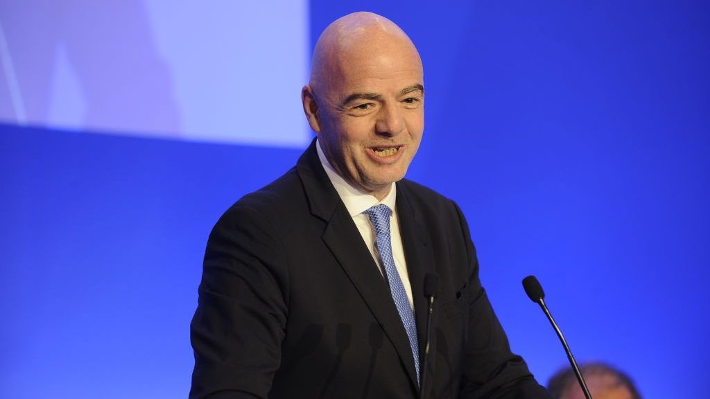 ROME, ITALY - OCTOBER 22:  FIFA President Gianni Infantino attends the Italian Football Federation (FIGC) elective assembly on October 22, 2018 in Rome, Italy.  (Photo by Marco Rosi/Getty Images)