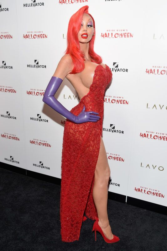 NEW YORK, NY - OCTOBER 31:  Heidi Klum attends Heidi Klum's 16th Annual Halloween Party sponsored by GSN's Hellevator And SVEDKA Vodka At LAVO New York on October 31, 2015 in New York City.  (Photo by Nicholas Hunt/Getty Images for Heidi Klum)