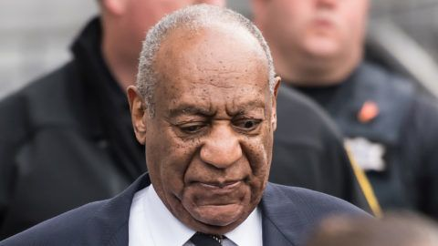 NORRISTOWN, PA - APRIL 16:  Actor/ stand-up comedian Bill Cosby leaving the Montgomery County Courthouse for the sixth day of his retrial for sexual assault charges on April 16, 2018 in Norristown, Pennsylvania. A former Temple University employee alleges that the entertainer drugged and molested her in 2004 at his home in suburban Philadelphia. More than 40 women have accused the 80 year old entertainer of sexual assault.  (Photo by Gilbert Carrasquillo/Getty Images)