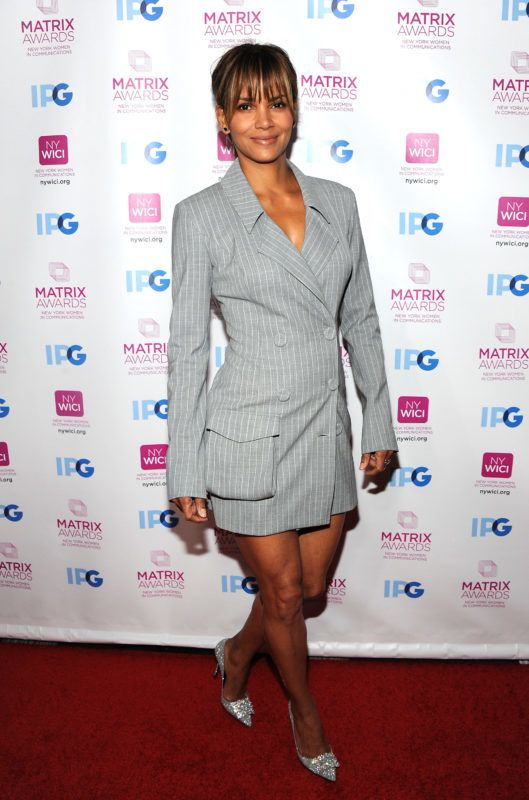 NEW YORK, NY - APRIL 23:  Actress Halle Berry attends 2018 Matrix Awards at Sheraton New York Times Square on April 23, 2018 in New York City.  (Photo by Desiree Navarro/WireImage)