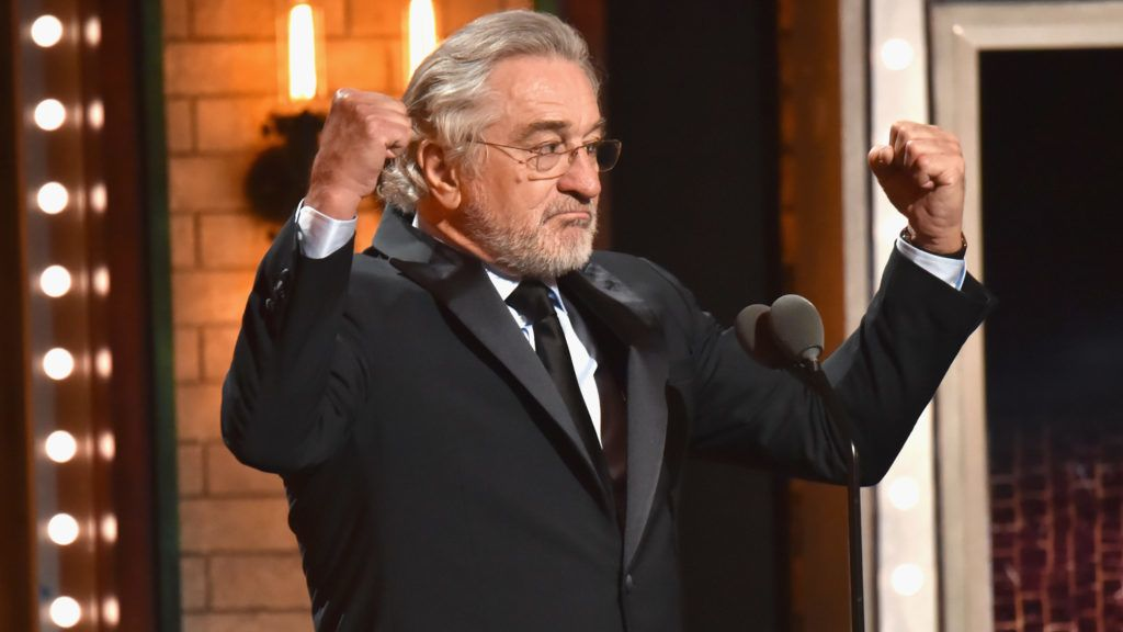 NEW YORK, NY - JUNE 10:  Robert De Niro speaks onstage during the 72nd Annual Tony Awards at Radio City Music Hall on June 10, 2018 in New York City.  (Photo by Kevin Mazur/Getty Images for Tony Awards Productions)