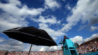 LONDON, ENGLAND - JUNE 19: A general view of Centre Court during Day 2 of the Fever-Tree Championships at Queens Club on June 19, 2018 in London, United Kingdom. (Photo by Marc Atkins/Getty Images)