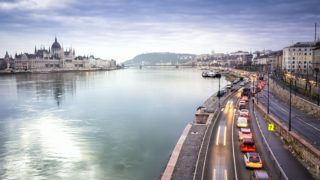 Parliament and Gellert Hill in Budapest, capital city of Hungary, Europe