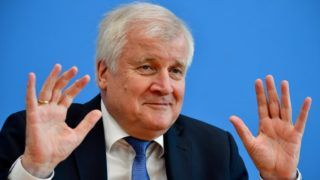 (FILES) In this file photo taken on October 16, 2018 German Interior Minister and leader of the conservative Christian Social Union (CSU) party Horst Seehofer gives a press conference to react on the results of the Bavarian state elections, in Berlin. - Seehofer intends to step down as leader of the conservative CSU following recent election results at a meeting of the party leadership in Munich on November 11, 2018. (Photo by Tobias SCHWARZ / AFP)