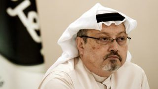 (FILES) In this file photo taken on December 15, 2014 (FILES) In this file photo taken on December 15, 2014 A general manager of Alarab TV, Jamal Khashoggi, looks on during a press conference in the Bahraini capital Manama. - The US Central Intelligence Agency has concluded Saudi's powerful Crown Prince Mohammed bin Salman was behind the killing of journalist Jamal Khashoggi, The Washington Post reported on November 16, 2018, citing people close to the matter. (Photo by MOHAMMED AL-SHAIKH / AFP)