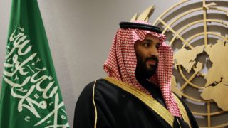 NEW YORK, USA - MARCH 27:  Prince Mohammed bin Salman Al Saud, Crown Prince of the Kingdom of Saudi Arabia attends the signing of a Voluntary Financial Contribution Memorandum between the Kingdom of Saudi Arabia and the United Nations pertaining to the 2018 Yemen Humanitarian Response Plan at UN Headquarters in New York, NY on March 27, 2018. Mohammed Elshamy / Anadolu Agency