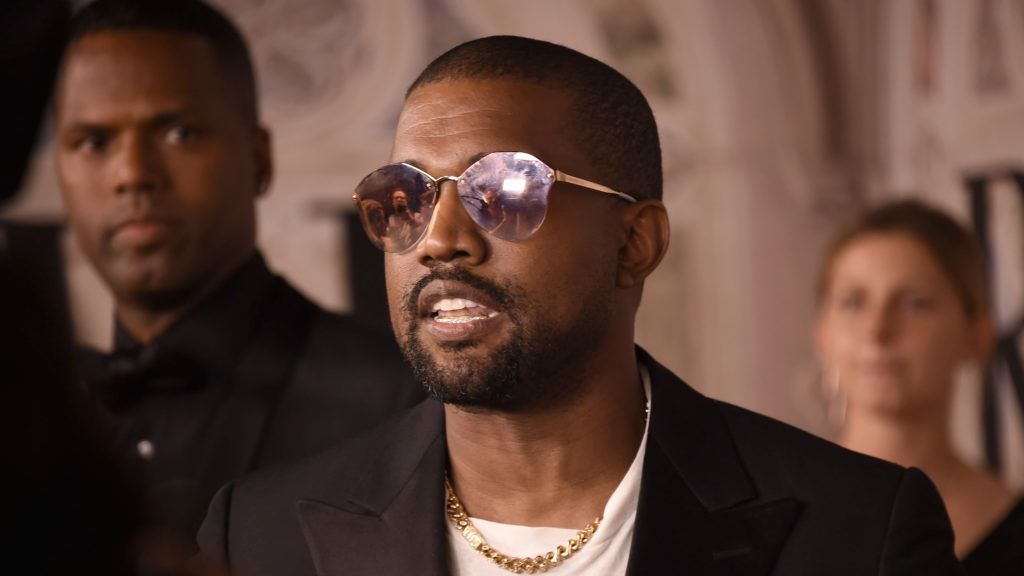 NEW YORK, NY - SEPTEMBER 07:  Kanye West attends the Ralph Lauren 50th Anniversary event during New York Fashion Week at Bethesda Terrace on September 7, 2018 in New York City.  (Photo by Gary Gershoff/WireImage)