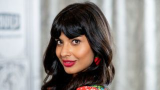 """NEW YORK, NY - OCTOBER 02:  Jameela Jamil discusses """"The Good Place"""" with the Build Series at Build Studio on October 2, 2018 in New York City.  (Photo by Roy Rochlin/Getty Images)"""