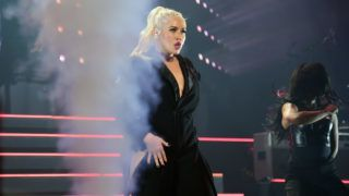 NEW YORK, NY - OCTOBER 03:  Christina Aguilera performs onstage during Christina Aguilera: The Liberation Tour at Radio City Music Hall on October 3, 2018 in New York City.  (Photo by Kevin Mazur/Getty Images for Live Nation)