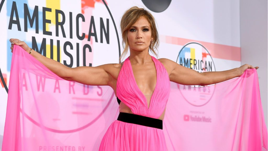 LOS ANGELES, CA - OCTOBER 09:  Jennifer Lopez attends the 2018 American Music Awards at Microsoft Theater on October 9, 2018 in Los Angeles, California.  (Photo by Kevork Djansezian/Getty Images For dcp)