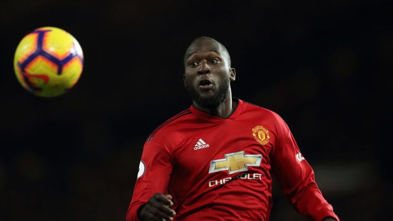 MANCHESTER, ENGLAND - OCTOBER 28: Romelu Lukaku of Manchester United during the Premier League match between Manchester United and Everton FC at Old Trafford on October 28, 2018 in Manchester, United Kingdom. (Photo by Matthew Ashton - AMA/Getty Images)