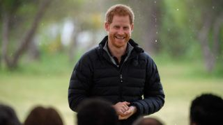 WELLINGTON, NEW ZEALAND - OCTOBER 29:  (UK OUT FOR 28 DAYS) Prince Harry, Duke of Sussex visits Abel Tasman National Park, which sits at the north-Eastern tip of the South Island, to visit some of the conservation initiatives managed by the Department of Conservation on October 29, 2018 in Wellington, New Zealand.  The Duke and Duchess of Sussex are on their official 16-day Autumn tour visiting cities in Australia, Fiji, Tonga and New Zealand.  (Photo by Pool/Samir Hussein/WireImage)