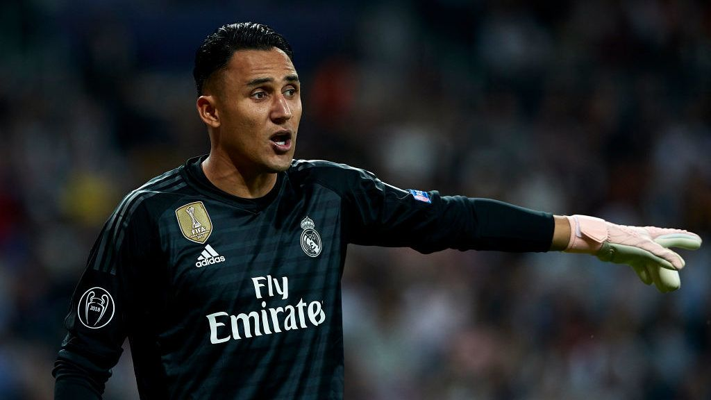 MADRID, SPAIN - OCTOBER 23:  Keylor Navas of Real Madrid reacts during the Group G match of the UEFA Champions League between Real Madrid  and Viktoria Plzen at Bernabeu on October 23, 2018 in Madrid, Spain.  (Photo by Quality Sport Images/Getty Images)