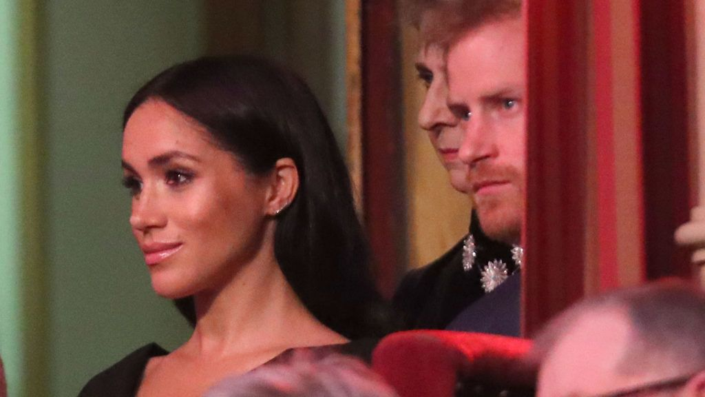 LONDON, ENGLAND - NOVEMBER 10: Prince Harry, Duke of Sussex and Meghan, Duchess of Sussex attend the Royal British Legion Festival of Remembrance at the Royal Albert Hall on November 10, 2018 in London, England. The Queen and members of the Royal Family are attending the annual Festival of Remembrance to commemorate all those who have lost their lives in conflicts and will mark 100 years since the end of the First World War.  (Photo by Chris Jackson/Getty Images)