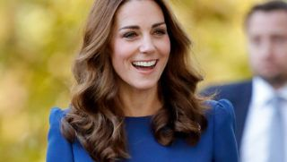 LONDON, UNITED KINGDOM - OCTOBER 31: (EMBARGOED FOR PUBLICATION IN UK NEWSPAPERS UNTIL 24 HOURS AFTER CREATE DATE AND TIME) Catherine, Duchess of Cambridge visits the Imperial War Museum to view family letters from World War One on October 31, 2018 in London, England. (Photo by Max Mumby/Indigo/Getty Images)