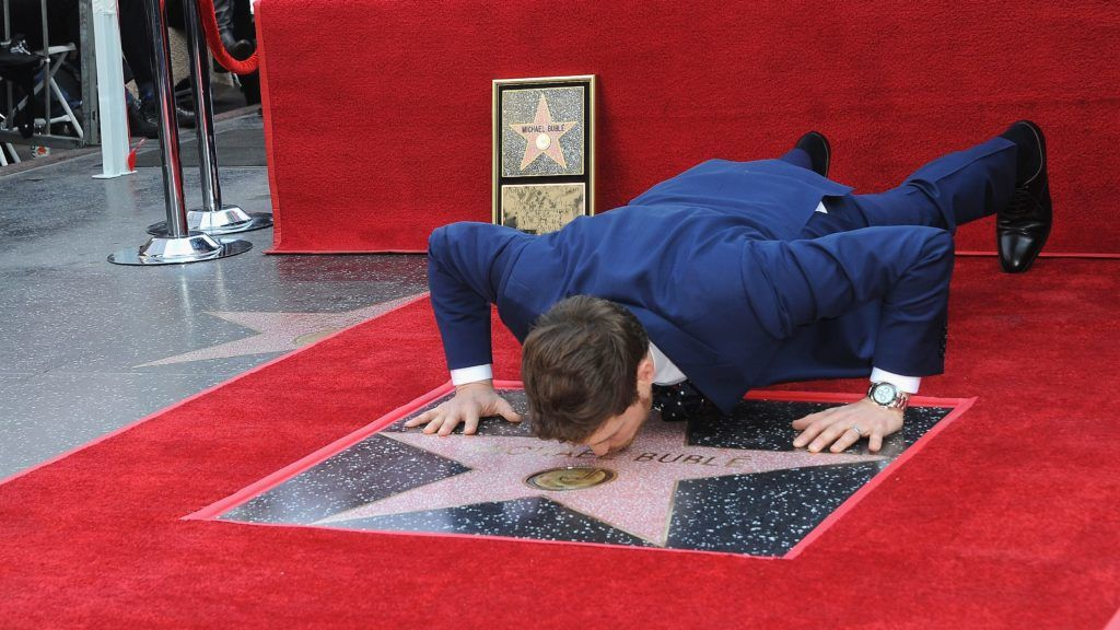 HOLLYWOOD, CA - NOVEMBER 16:  Singer Michael Bublé attends a ceremony honoring him with a star on the Hollywood Walk Of Fame on November 16, 2018 in Hollywood, California.  (Photo by Albert L. Ortega/Getty Images)