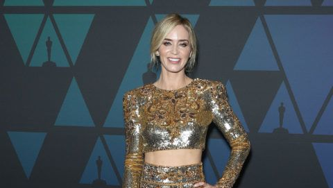 HOLLYWOOD, CA - NOVEMBER 18: Emily Blunt attends the Academy of Motion Picture Arts and Sciences' 10th Annual Governors Awards at The Ray Dolby Ballroom at Hollywood & Highland Center on November 18, 2018 in Hollywood, California.  (Photo by Frederick M. Brown/FilmMagic)