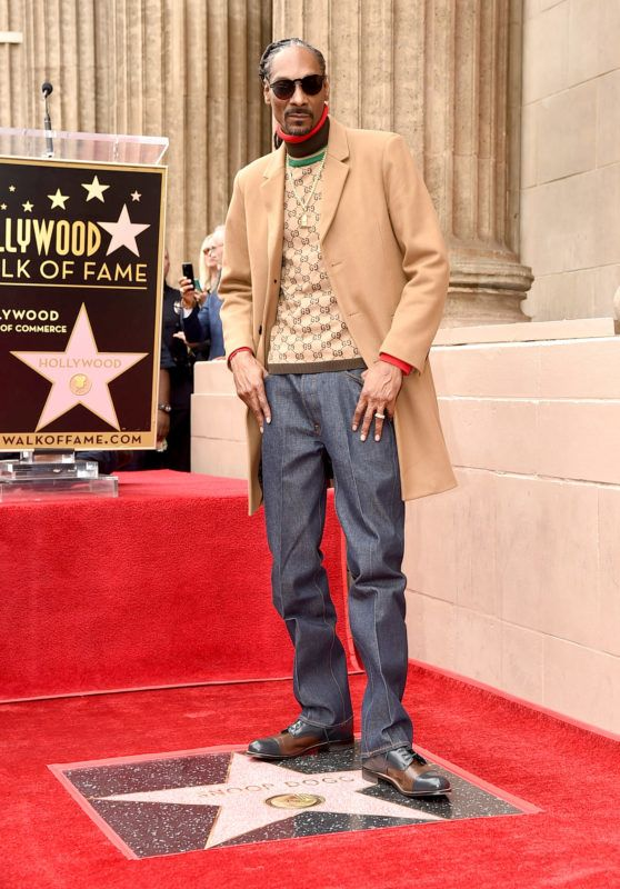 LOS ANGELES, CA - NOVEMBER 19:  Snoop Dogg is honored with a star on The Hollywood Walk Of Fame on Hollywood Boulevard on November 19, 2018 in Los Angeles, California.  (Photo by Kevin Winter/Getty Images)