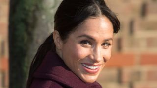 LONDON, ENGLAND - NOVEMBER 21:  Meghan, Duchess of Sussex visits the Hubb Community Kitchen to see how funds raised by the 'Together: Our Community' Cookbook are making a difference at Al Manaar, North Kensington on November 21, 2018 in London, England.  (Photo by Samir Hussein/Samir Hussein/WireImage)