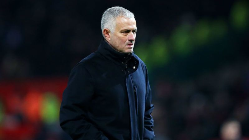 MANCHESTER, ENGLAND - NOVEMBER 24:  Jose Mourinho, Manager of Manchester United looks on following the Premier League match between Manchester United and Crystal Palace at Old Trafford on November 24, 2018 in Manchester, United Kingdom.  (Photo by Alex Livesey/Getty Images)