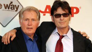 """LOS ANGELES, CA - SEPTEMBER 23:  Actors Martin Sheen and Charlie Sheen attend AARP's Movies For Grown Ups Film Festival screening of """"The Way"""" at Nokia Theatre L.A. Live on September 23, 2011 in Los Angeles, California.  (Photo by Mark Sullivan/WireImage)"""