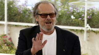 """CANNES - MAY 15: American actor Jack Nicholson attends the photocall prior to the premiere of his film """"About Schmidt"""" at the 55th International Film Festival on May 15, 2002 in Cannes, France. (Photo by Dave Hogan/Getty Images)"""
