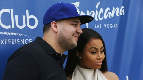 LAS VEGAS, NV - MAY 28:  Television personality Rob Kardashian (L) and model Blac Chyna attend the Sky Beach Club at the Tropicana Las Vegas on May 28, 2016 in Las Vegas, Nevada.  (Photo by Gabe Ginsberg/Getty Images)