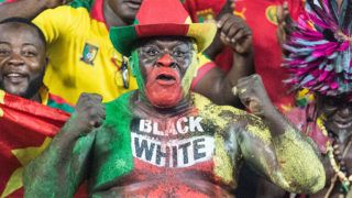 Cameroon fans at African Cup of Nations 2017 between Cameroon and Gabon at Libreville, Gabon on 20/1/2017. (Photo by Ulrik Pedersen/NurPhoto via Getty Images)