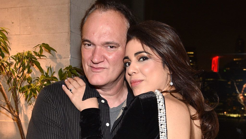"""BROOKLYN, NY - APRIL 30:  (Exclusive Coverage) Quentin Tarantino and Daniella Pick attend 1 Hotel Brooklyn Bridge celebrates 25th Anniversary of """"Reservoir Dogs"""" with private party for Harvey Weinstein and Quentin Tarantino at 1 Hotel on April 30, 2017 in Brooklyn, New York.  (Photo by Kevin Mazur/Getty Images for 1 Hotel)"""