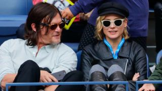 NEW YORK, NY - SEPTEMBER 10:  Diane Kruger and Norman Reedus at Arthur Ashe Stadium on September 10, 2017 in New York City.  (Photo by Jackson Lee/WireImage)