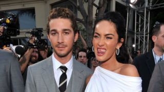 """LOS ANGELES, CA - JUNE 22:  (L-R) Actor Shia LaBeouf and actress Megan Fox arrive on the red carpet of the 2009 Los Angeles Film Festival's premiere of """"Transformers: Revenge of the Fallen"""" held at the Mann Village Theatre on June 22, 2009 in Los Angeles, California.  (Photo by Lester Cohen/WireImage)"""