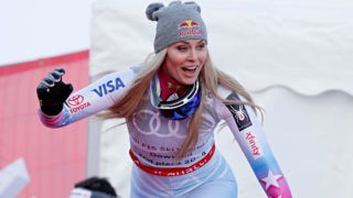 ARE, SWEDEN - MARCH 14: Lindsey Vonn of USA takes 1st place during the Audi FIS Alpine Ski World Cup Finals Men's and Women's Downhill on March 14, 2018 in Are, Sweden. (Photo by Alexis Boichard/Agence Zoom/Getty Images)