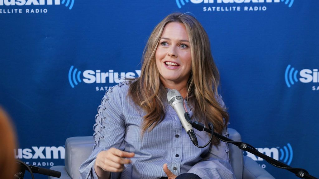 NEW YORK, NY - JUNE 05:  Alicia Silverstone takes part in Jenny McCarthy's 'Inner Circle' series on her SiriusXM show 'The Jenny McCarthy Show' with the cast of American Woman on June 5, 2018 in New York City.  (Photo by Cindy Ord/Getty Images for SiriusXM)