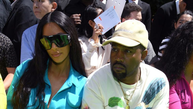 PARIS, FRANCE - JUNE 21: Kim Kardashian and Kanye West attend the Louis Vuitton Menswear Spring/Summer 2019 show as part of Paris Fashion Week on June 21, 2018 in Paris, France.  (Photo by Pascal Le Segretain/Getty Images)