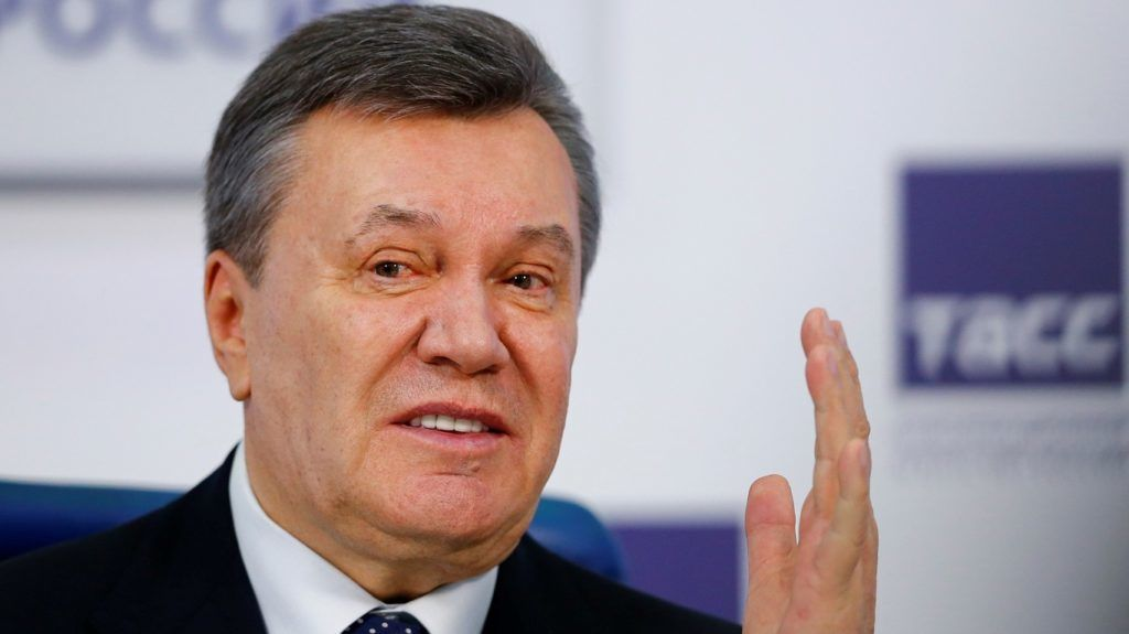 MOSCOW, RUSSIA - MARCH 02 : Former Ukrainian President Viktor Yanukovych attends news conference in Moscow, Russia on March 02, 2018. Sefa Karacan / Anadolu Agency