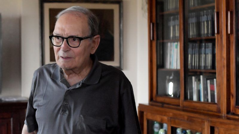 Italian composer Ennio Morricone poses during an interview in Rome on July 3, 2017. (Photo by TIZIANA FABI / AFP)
