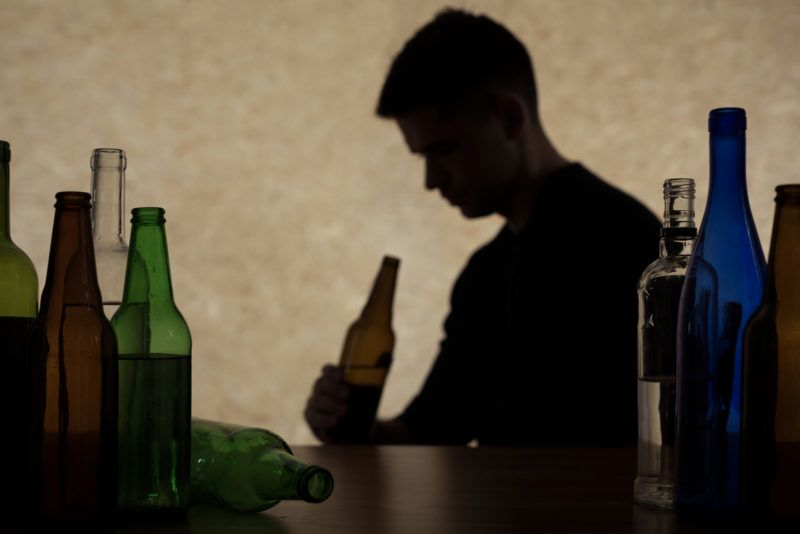 Adolescent drinking beer - alcoholism among young adults