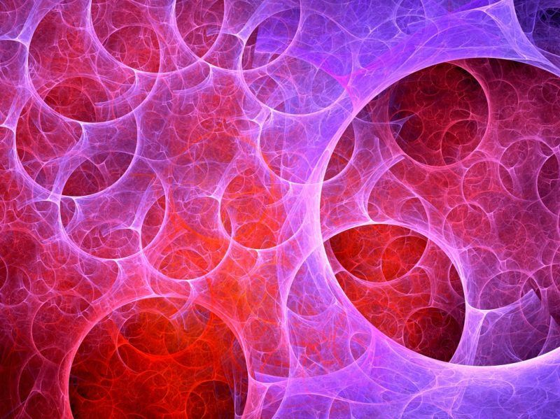 Multiverse bubbles fractal, computer generated abstract background