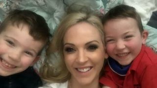 Collect of Helen Ross, 38, with her children Hugo, 6, and Henry, 5. Mrs. Ross was diagnosed with 'ÄeBroken Heart Syndrome'Äô, almost killing her, when her childhood sweetheart left her for a mutual friend in July 2006.  See SWNS story SWOCheart.,A woman almost died from a broken heart after her childhood sweetheart left her for their friend, causing her heart to flatline.Helen Ross, 38, was diagnosed with 'Broken Heart Syndrome' after she collapsed in July 2006 after a traumatic separation from boyfriend of seven years, Andy.The mother-of-two from Belfast, had jetted to Orlando, Florida for a modelling job after splitting from Andy, now 36, when she discovered he had been unfaithful with a mutual friend.But on the first day of the job, distraught Helen, then 26, collapsed seemingly randomly, and was rushed to hospital, where she was wired up for observation. ***EXCLUSIVE***