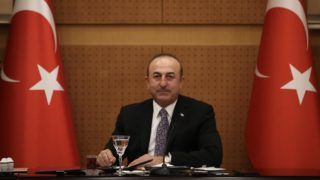 ANKARA, TURKEY - DECEMBER 25: Turkish Foreign Minister Mevlut Cavusoglu meets with the Ankara representatives of newspapers and televisions during the evaluation meeting of the end of the year in Ankara, Turkey on December 25, 2018. Fatih Aktas / Anadolu Agency
