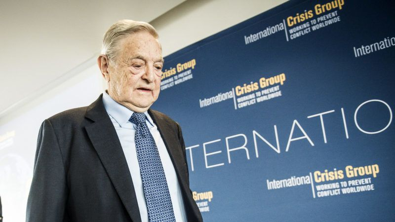 Hungarian born US billionaire philanthropist and Chairman of the Soros Fund Management LLC George Soros gives a speach during the meeting of International Crisis Group Working to Prevent Conflict Worldwide  in Brussels, Belgium on 23.10.2014