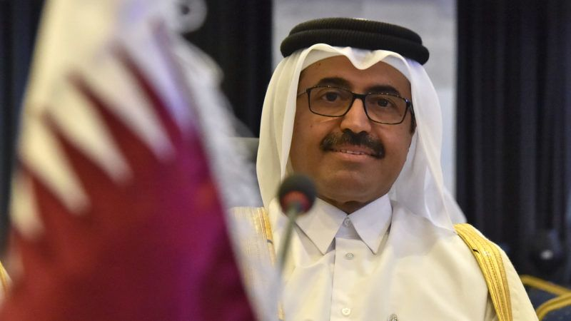 Mohammed bin Saleh al-Sada, Qatar's Minister of Energy & Industry attends OPEC's Joint Ministerial Monitoring Committee (JMMC), during their meeting in Algiers on September 23, 2018. (Photo by RYAD KRAMDI / AFP)