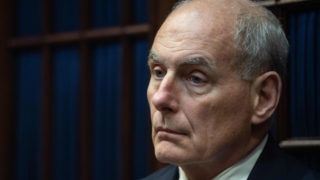 (FILES) In this file photo taken on September 5, 2018 White House chief of staff John Kelly attends a meeting between US President Donald Trump and Republican Congressional leaders at the White House in Washington, DC. - US President Donald Trump on December 8, 2018, announced Kelly would be leaving the administration at the end of the year -- the latest in a series of moves by the Republican leader to change his inner circle of aides. (Photo by NICHOLAS KAMM / AFP)
