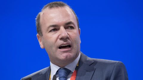 Manfred WEBER, CSU, leading candidate of the EPP for the office of EU Commission President, at his speech, 31st CDU party conference 2018 in Hamburg from 6.- 8.12.2018, 08.12.2018 Â | usage worldwide