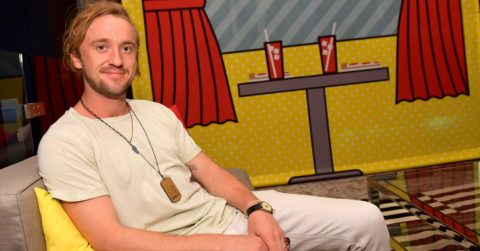 SAN DIEGO, CA - JULY 19: Tom Felton from Youtube's 'Origin' attends the Pizza Hut Lounge at 2018 Comic-Con International: San Diego at Andaz San Diego on July 19, 2018 in San Diego, California.  (Photo by Matt Winkelmeyer/Getty Images for Pizza Hut)
