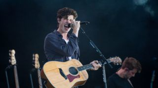 BUDAPEST, HUNGARY - AUGUST 13:  Shawn Mendes performs on stage on day 6 of Sziget Festival 2018 on August 13, 2018 in Budapest, Hungary.  (Photo by Joseph Okpako/Getty Images)