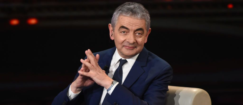 English actor Sir Rowan Atkinson attends 'Che Tempo Che Fa' tv show at Rai Milan Studios on October 7, 2018 in Milan, Italy. (Photo by Andrea Diodato/NurPhoto via Getty Images)